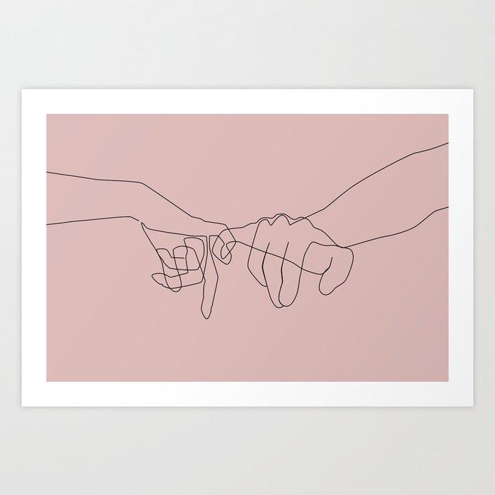 Blush Pinky Kunstdrucke