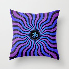 Shiva Om | Sacred geometry mandala Throw Pillow