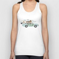 cyrilliart Tank Tops featuring No Control by Cyrilliart