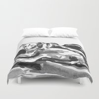 greyhound Duvet Covers featuring Greyhound -3 by Jenn Steffey