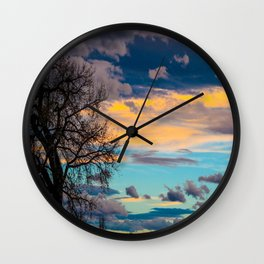 Colorful Colorado Sunset Wall Clock