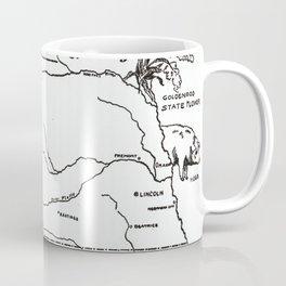 Vintage Illustrative Map of Nebraska (1912) Coffee Mug
