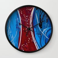 dress Wall Clocks featuring Red Dress by RvHART