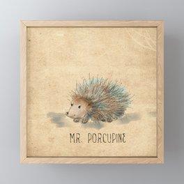 Mr. Porcupine Framed Mini Art Print