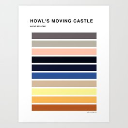The colors of - Howl's moving castle Art Print