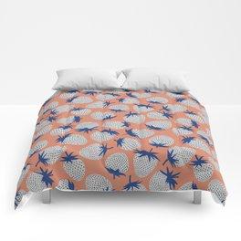 Inky Strawberries Comforters