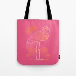 Flamingo Sunset Tote Bag