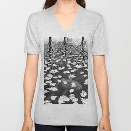 Escher- Three Worlds Unisex V-Neck
