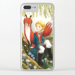 The little Prince and the fox Clear iPhone Case