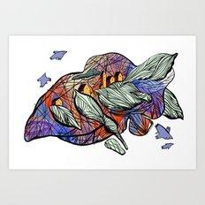 explore (purple) Art Print