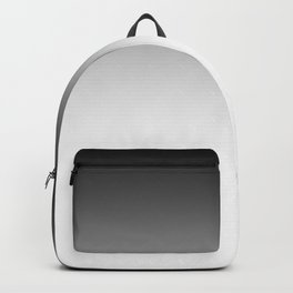 White-black Ombre Backpack