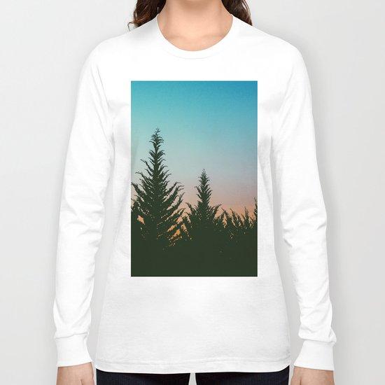 Tree tops #society6 Long Sleeve T-shirt