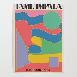 Ta-me Impala at Glastonbury gig poster Poster