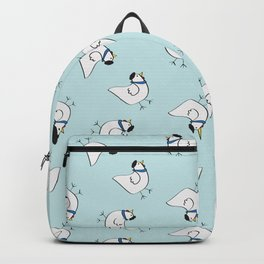 the happy french hen in bakery blue Backpack