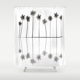 Palm Reflections II Shower Curtain