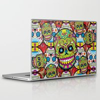 sugar skulls Laptop & iPad Skins featuring Sugar Skulls by Spooky Dooky