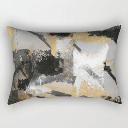 Gold leaf black, geometrical abstract Rectangular Pillow