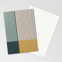 Color Block Line Abstract VIII Stationery Cards
