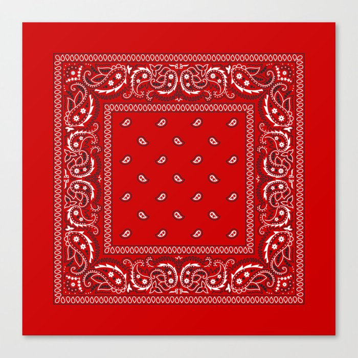 Paisley - Bandana - Red - Southwestern - Boho Leinwanddruck