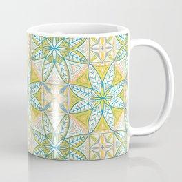 Yellow Lisbon Tile Geometric Print Coffee Mug