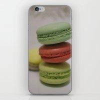 macarons iPhone & iPod Skins featuring Macarons by Ana Sofia Santos