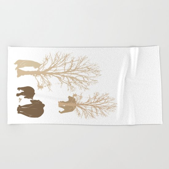 Morning Bears In The Woods No. 2 Beach Towel