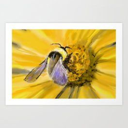 Beatrice the Bumble Bee Art Print