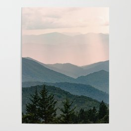 Smoky Mountain Pastel Sunset Poster