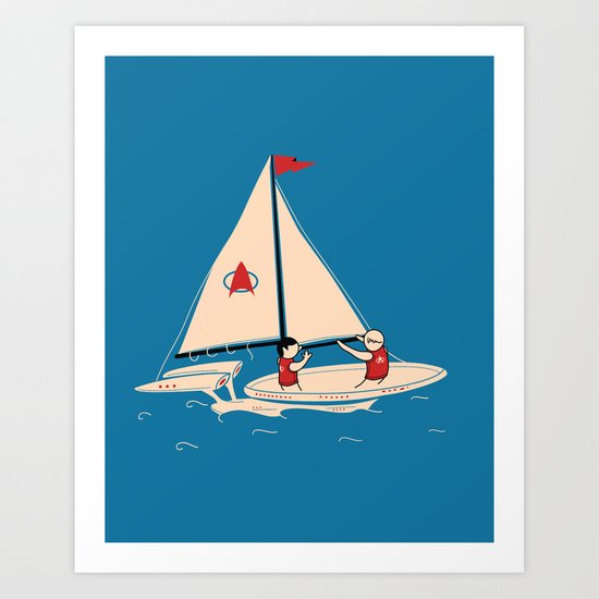 Sailing Towards Future Unknowns Art Print