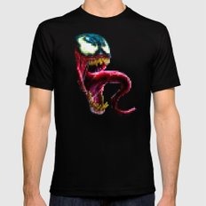 Venom Pixel : Black Background 2X-LARGE Black Mens Fitted Tee