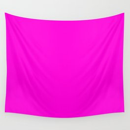 Fluorescent Neon Hot Pink Wall Tapestry