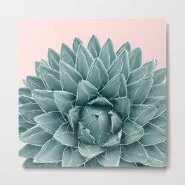 Blush Green Agave Chic #1 #succulent #decor #art #society6 Metal Print