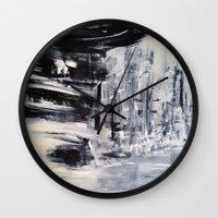 singapore Wall Clocks featuring Singapore I by Kasia Pawlak