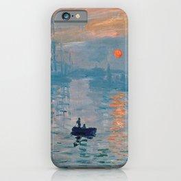 Claude Monet - Impression Sunrise iPhone Case