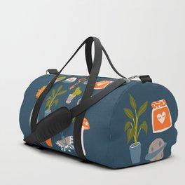 Minimalist Teenage Bedroom Blue Flash Sheet Duffle Bag