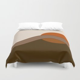 Cocoa Sundown Stripes Duvet Cover