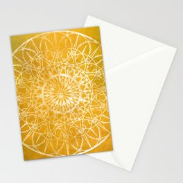 Fire Blossom - Yellow Stationery Cards