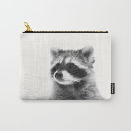 Black and white raccoon Carry-All Pouch
