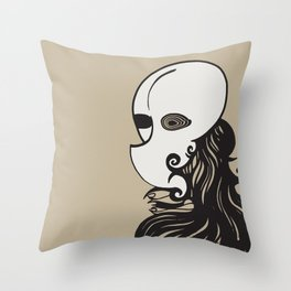 Face of a Stranger Throw Pillow