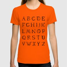 ABC - Lamenta Womens Fitted Tee Orange MEDIUM