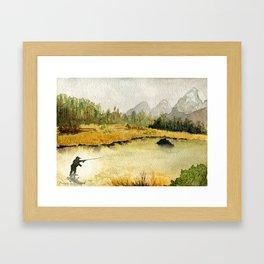 Fly Fishing Framed Art Print