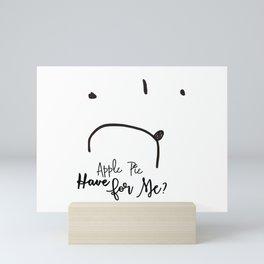 Apple Pie Lover by MahsaWatercolor Mini Art Print