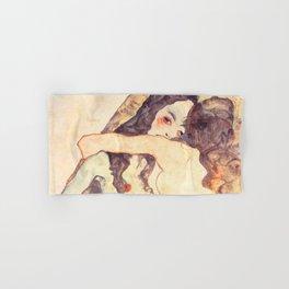 "Egon Schiele ""Two women embracing"" Hand & Bath Towel"