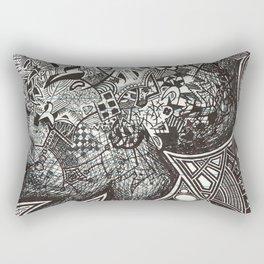 Red, Black, White, And Deja Rectangular Pillow