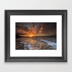 Oahu Sunset Framed Art Print