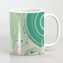 Spiraling Green Coffee Mug