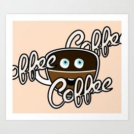 Cute Coffee Addict Art Print