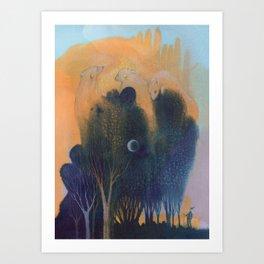 Forest of Endless Sleep Art Print
