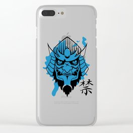 Taboo (Blue) Clear iPhone Case