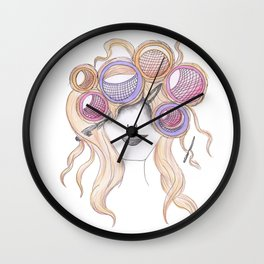 365 cabelos -Messy Wall Clock